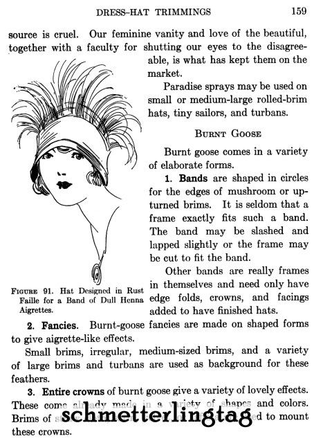 MILLINERY Lessons LOEWEN Hat Making Designs Guide 1925