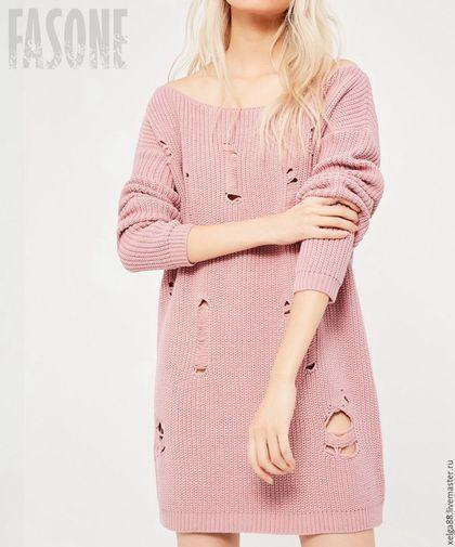 85211615988 Платья ручной работы. Платье розовое вязаное