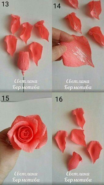Pin By Lina On Idei Easy Paper Flowers Crepe Paper Roses Paper Flowers Craft