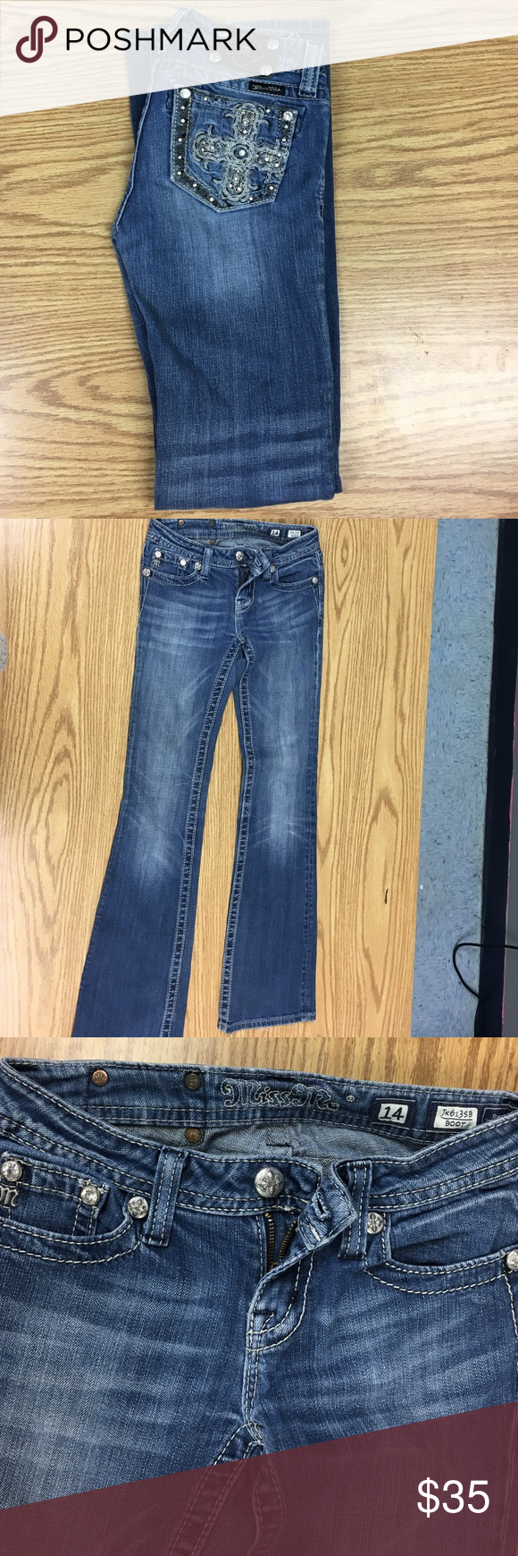 Girls jeans Miss Me so 14 excellent condition Miss Me Bottoms Jeans
