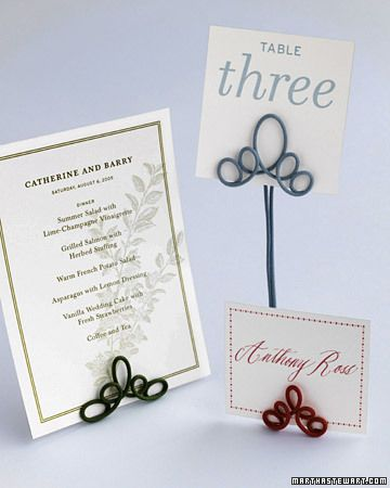 Diy Wire Table Number Holders For Using Pieces Of Inexpensive Cloth Covered Radio I Can See Myself These To Hold Photos Around The House Too