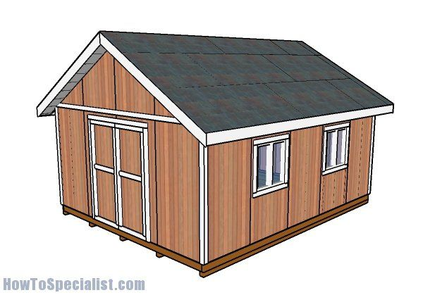 16x20 Shed Plans Howtospecialist How To Build Step By Step Diy Plans Shed Design Wood Shed Plans 12x20 Shed Plans