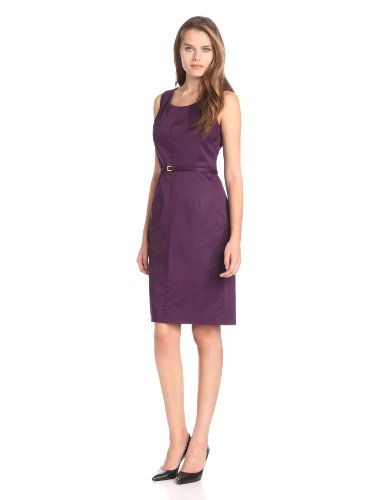 Jones New York Women's Short Sleeve Belted Dress #workdresses