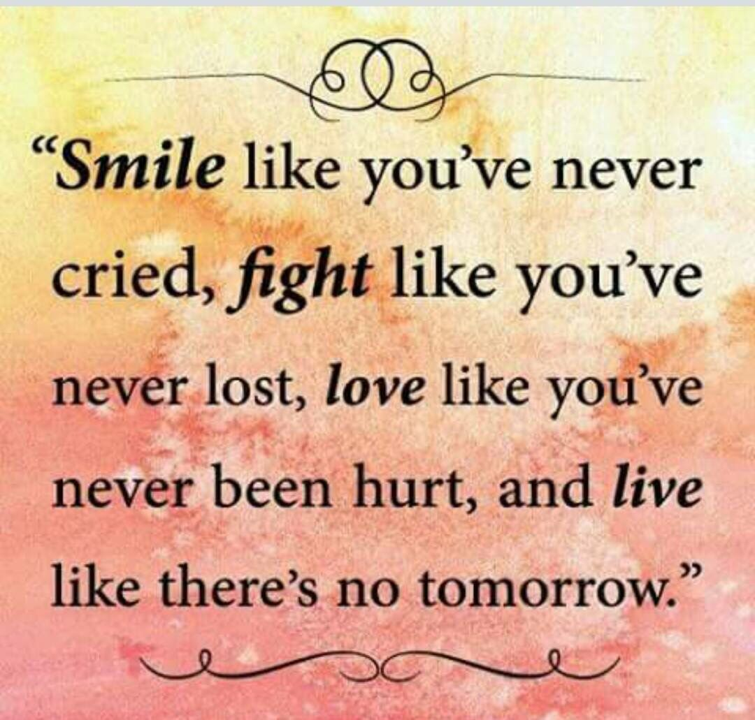 Smile and fight