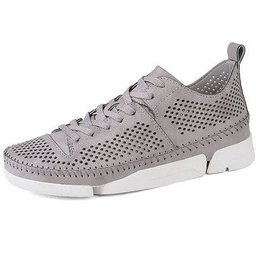Fashion Men Hand Stitching Hollow Out Breathable Skateboarding Shoes Casual Sneakers - NewChic Mobile.