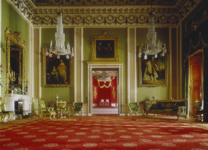 The Green Drawing Room At Buckingham Palace