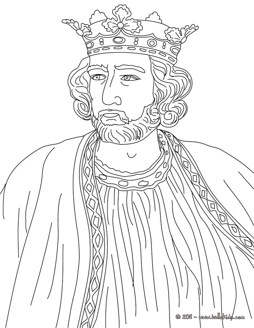 Printable Coloring Pages Kings And Queens