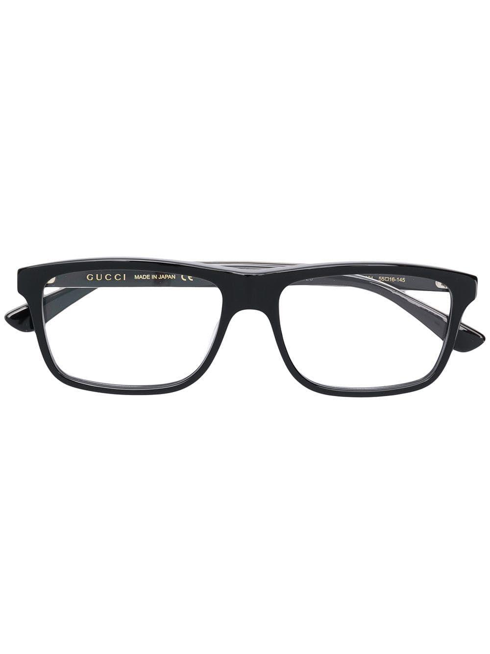 0b0efff3add GUCCI GUCCI EYEWEAR RECTANGULAR FRAME GLASSES - BLACK.  gucci ...