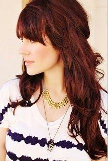 How to get a mahogany brown hair color Mahogany brown hair color