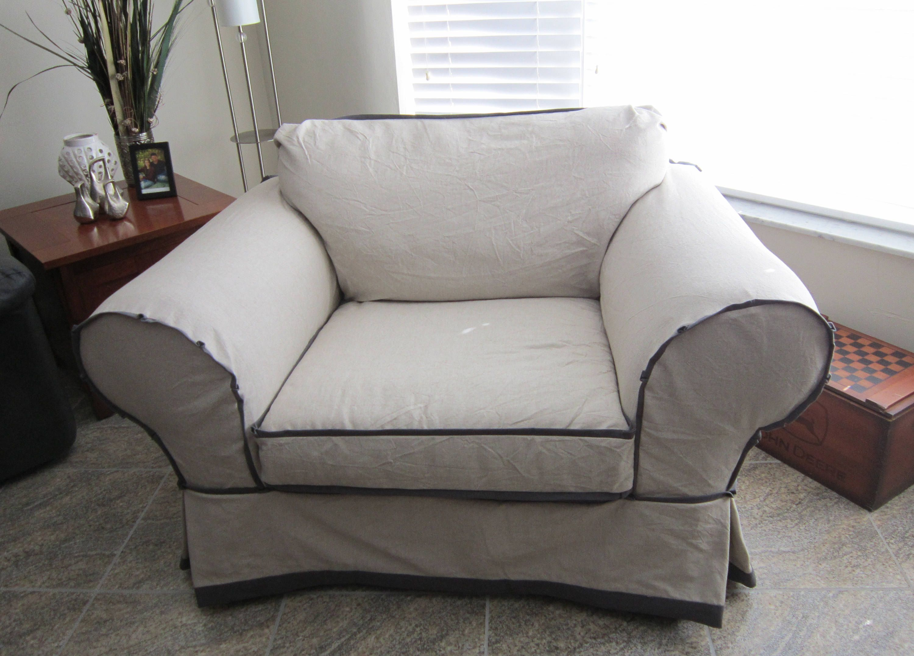 Chair 1 2 With No Cushions Custom Slipcover Etsy Chair And A Half Slipcovers Custom Slipcovers
