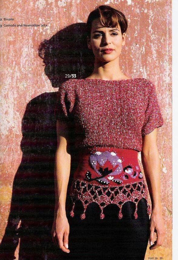 Gorgeous knit (Filati 29)   в - exstraño   Pinterest   Knit crochet ...