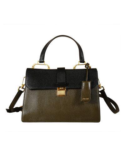 Miu Miu   Green Madras Top Handle Bag   Lyst