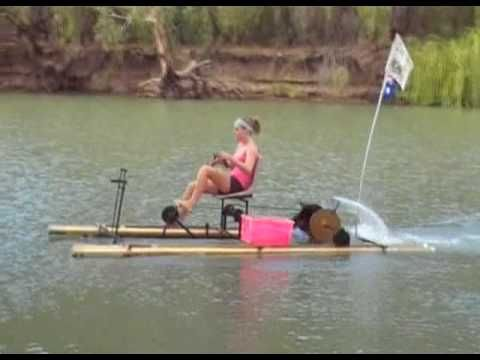 Pvc pipe boat pedal boat 01 56 mins visto 29303 veces for Fishing pedal boat