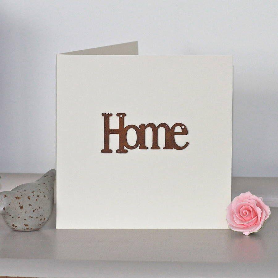 Handmade \'New Home\' Card