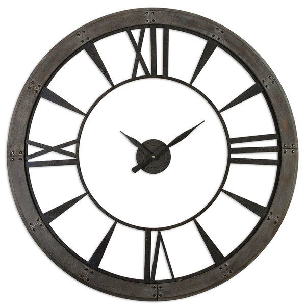 Oversized 60 Wall Clock Wall Clock Rustic Wall Clocks Gallery Wall Clock