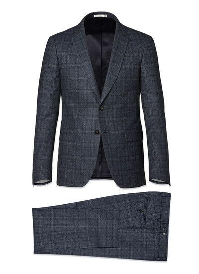 Costume bleu gris - prince de galles 18HC3KATE-MC30 32 - Costume ... 150fae1a34e