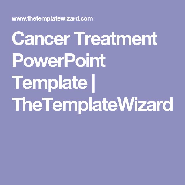 Cancer Treatment PowerPoint Template | TheTemplateWizard
