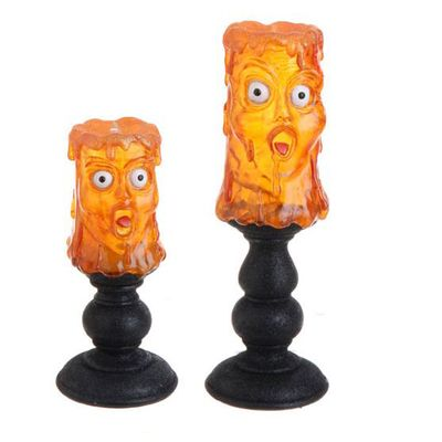 RAZ Dripping Face Candle Lamp Halloween Decoration Set of ...