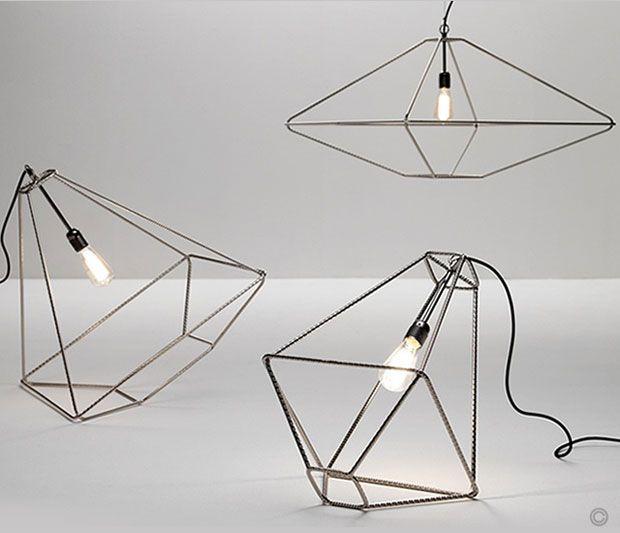 "Wire frame light pendants ""Con. Tradition"" by Opinion Ciatti. The ..."