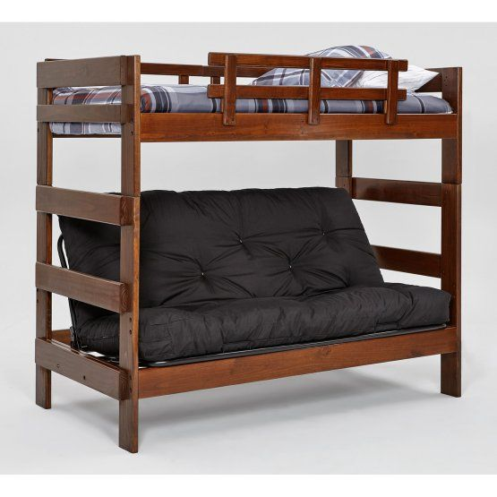 Woodcrest Heartland Chocolate Futon Bunk Bed | Beach House Bunk ...
