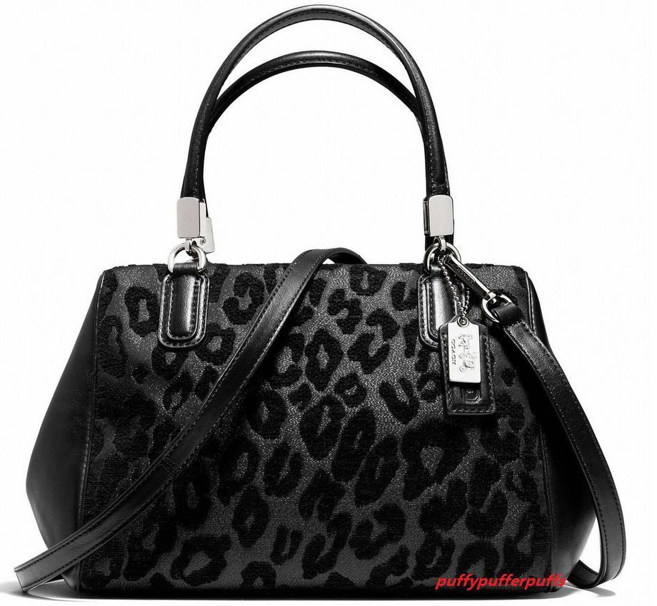 d0531681c1238 Nwt coach madison mini satchel in ocelot chenille silver black f50508