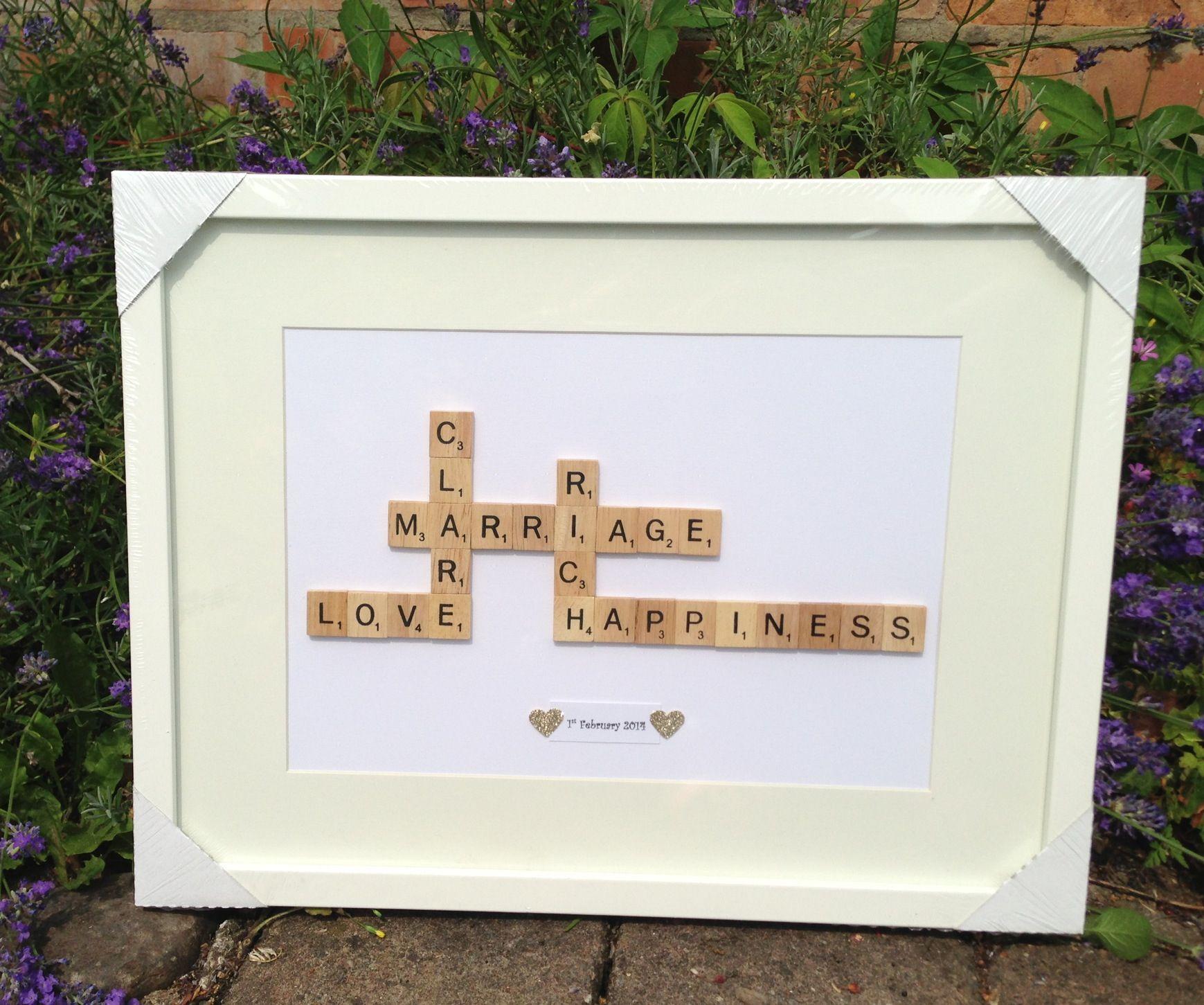Large scrabble wedding picture frame x Scrabble wedding