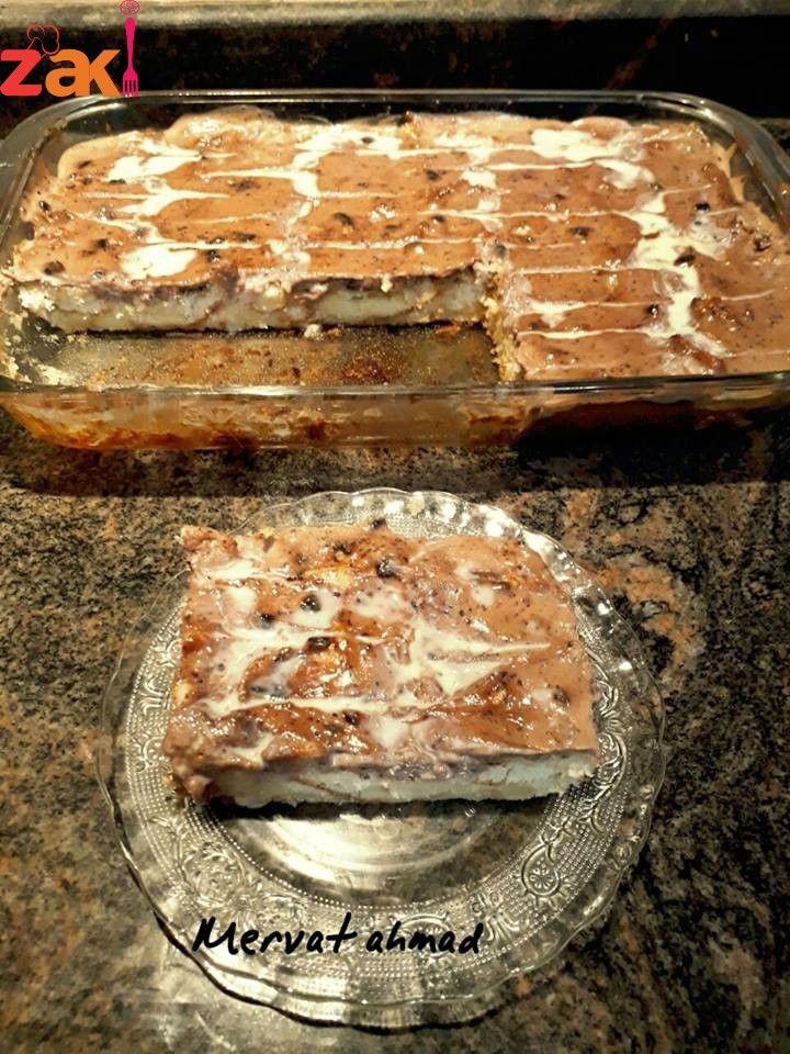 طريقة عمل حلا الصمون أطيب حلا بدون كيك و لا بسكوت زاكي Cooking And Baking Food Sweets Desserts
