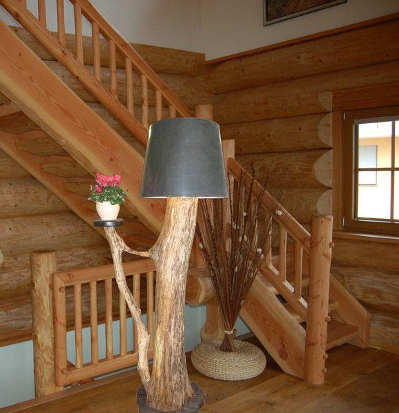 designer stehlampe holz von schappis holzkreationen auf rustikale holzm bel. Black Bedroom Furniture Sets. Home Design Ideas