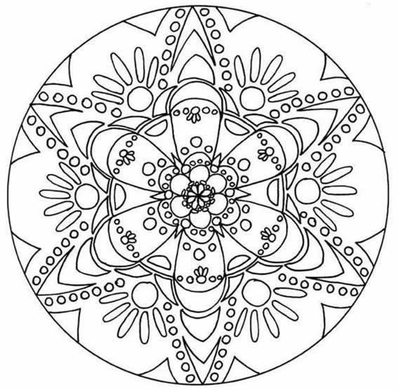 11 mandalas para colorear budistas (1) | Coloring page | Mandala