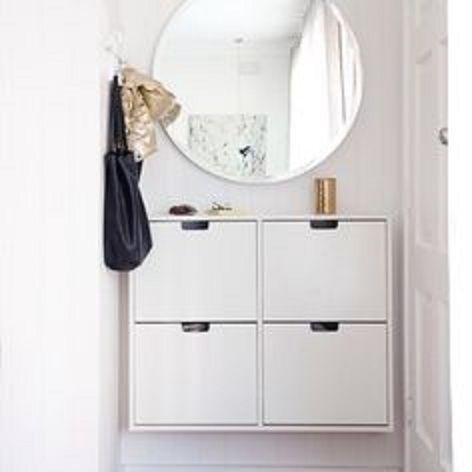 Hackers Help Wall Mounting Ikea Stall Shoe Cabinet Ikea Hackers Miroir Entree Petites Entrees De Maison Banc D Entree Avec Rangement