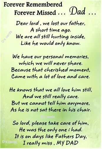 In Loving Memory Card Keepsake Grave Dad Daddy Grandad Fathers Day Birthday Remembering Dad I Miss My Dad Dad Quotes