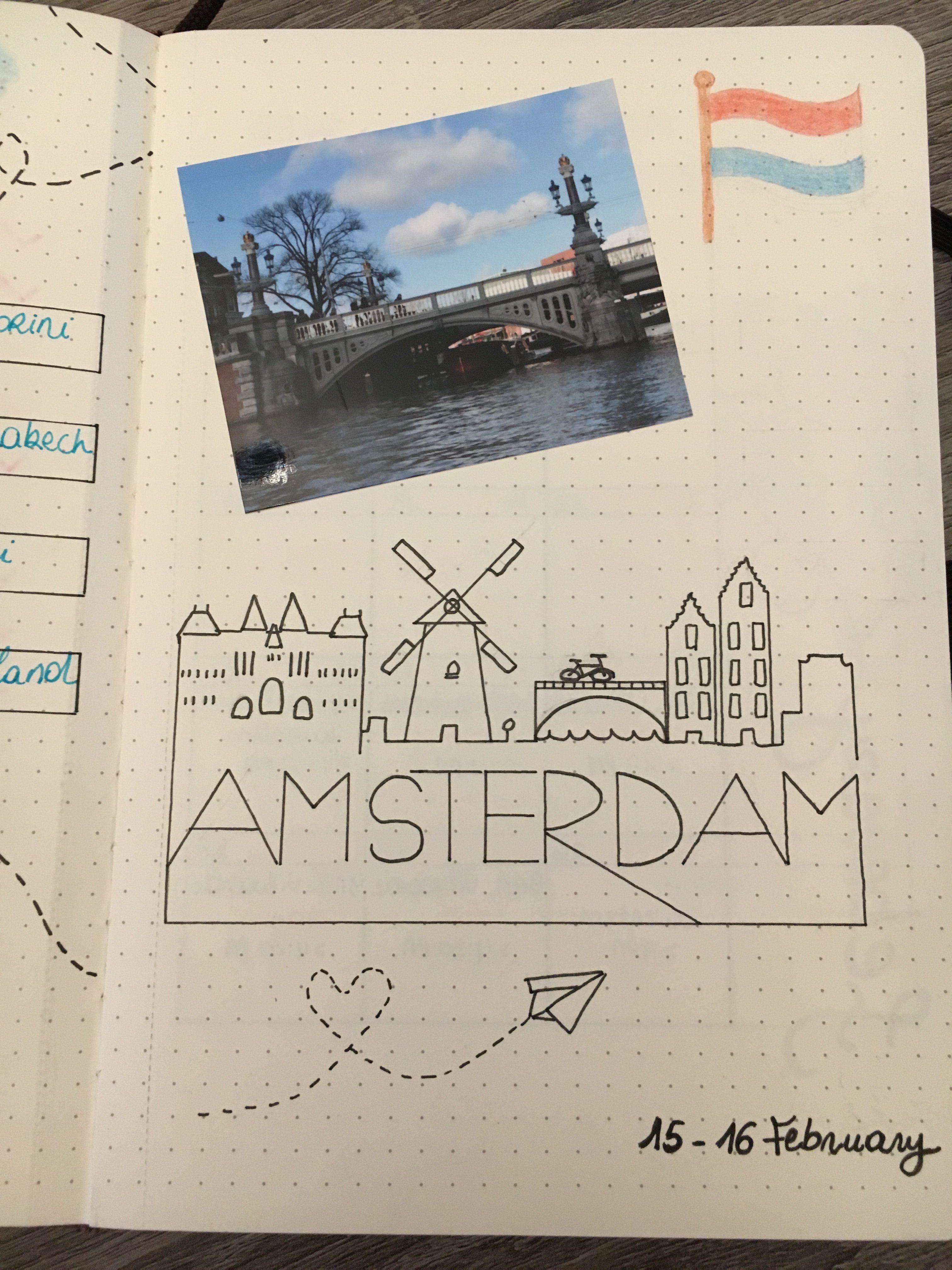 Trip To Amsterdam Bullet Journal Bulletjournal Amsterdam Trip Travel Amsterdam Reise Reisealbum Reise Tattoo