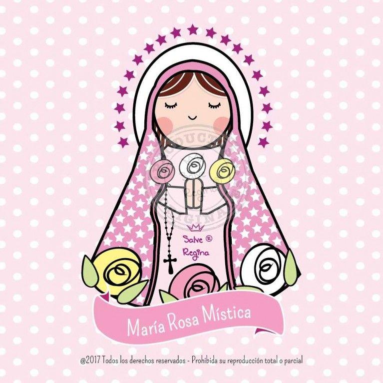 Maria Rosa Mistica Rosa Mistica Virgen Caricatura Santoral