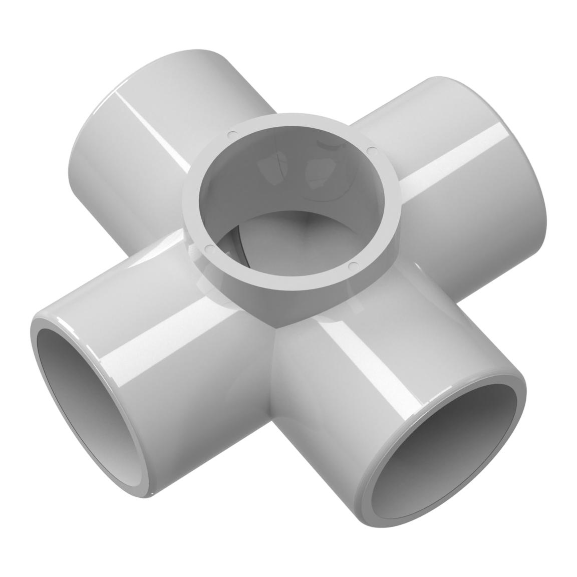 Closeout 5Way Cross PVC Fitting Furniture Grade