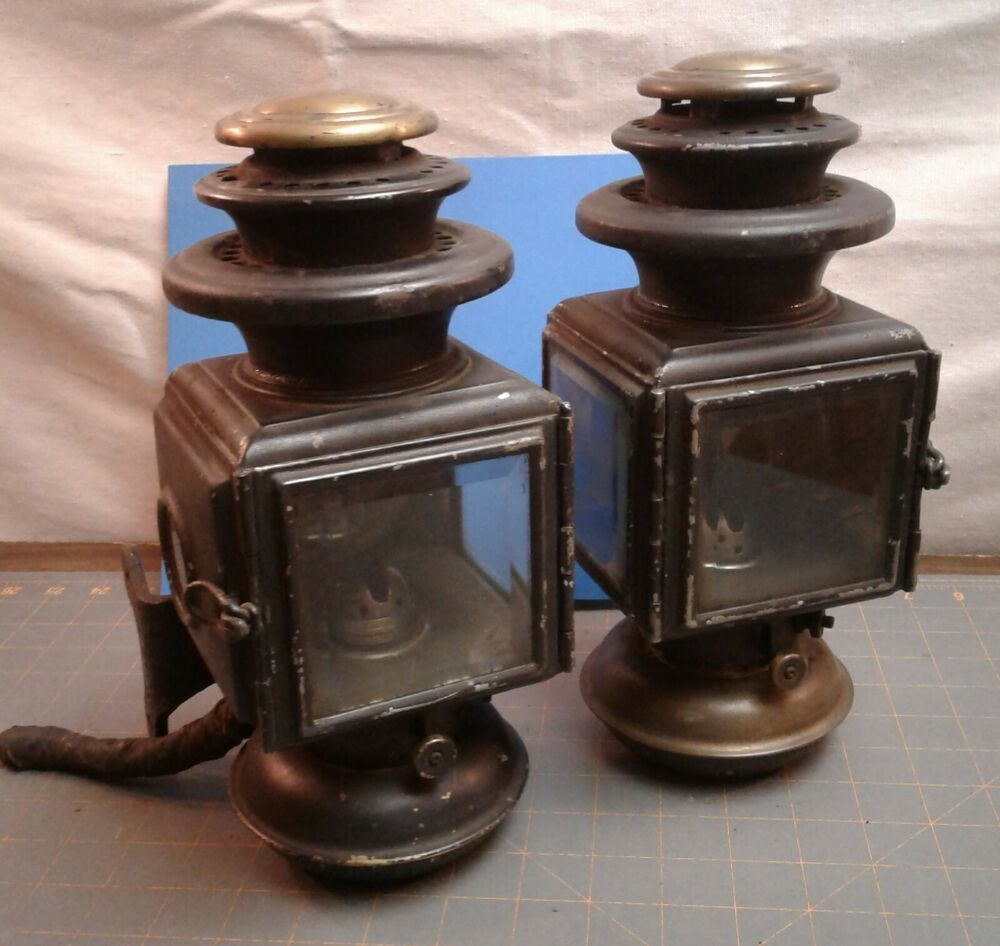 Antique Pair Ford Model T Cowl Lamps Side Marker Lights 1912 Victor Lamp Co Ford Things To Sell Electric Lamp Candle Holders