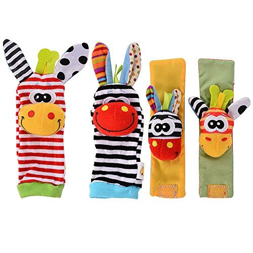 Acekid Baby Wrist Rattles Hands Foots Finders Infant Baby Soft Education Development Toy Check This Baby Soft Toys Baby Developmental Toys Baby Toys Rattles