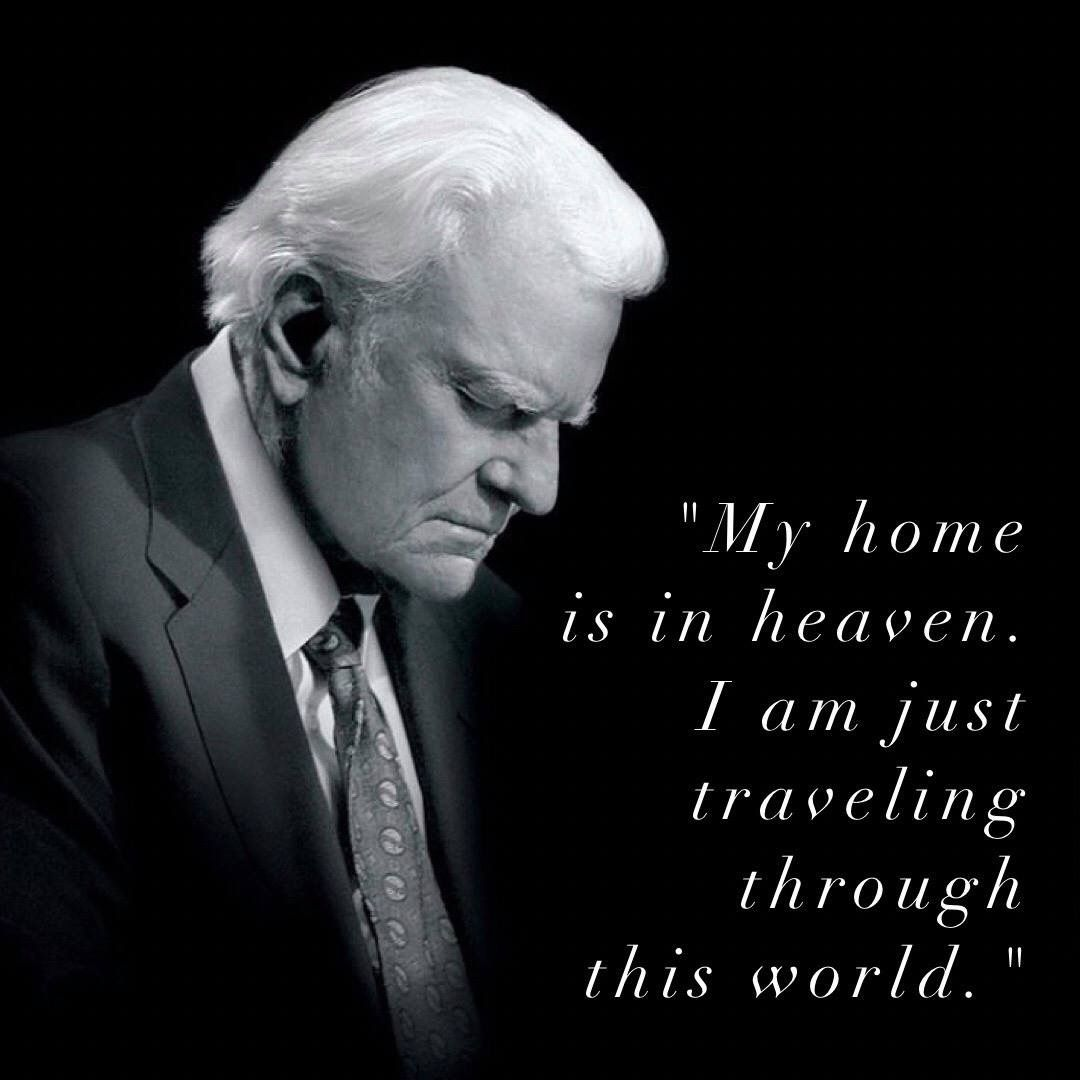 Celebrating him all week 💛 Quote Billy Graham