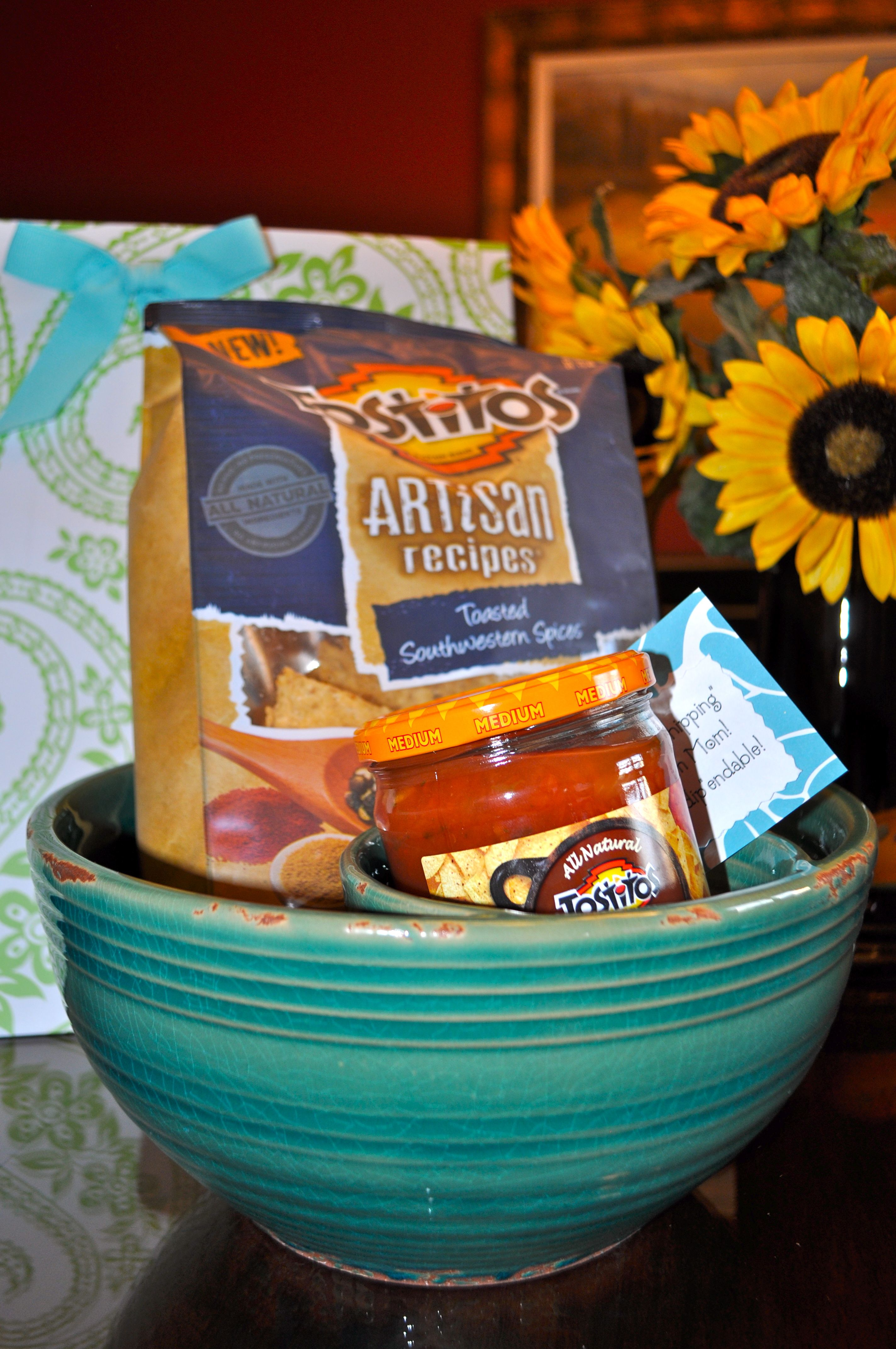 """chips & salsa gift for volunteer appreciation...thanks for """"chipping..."""