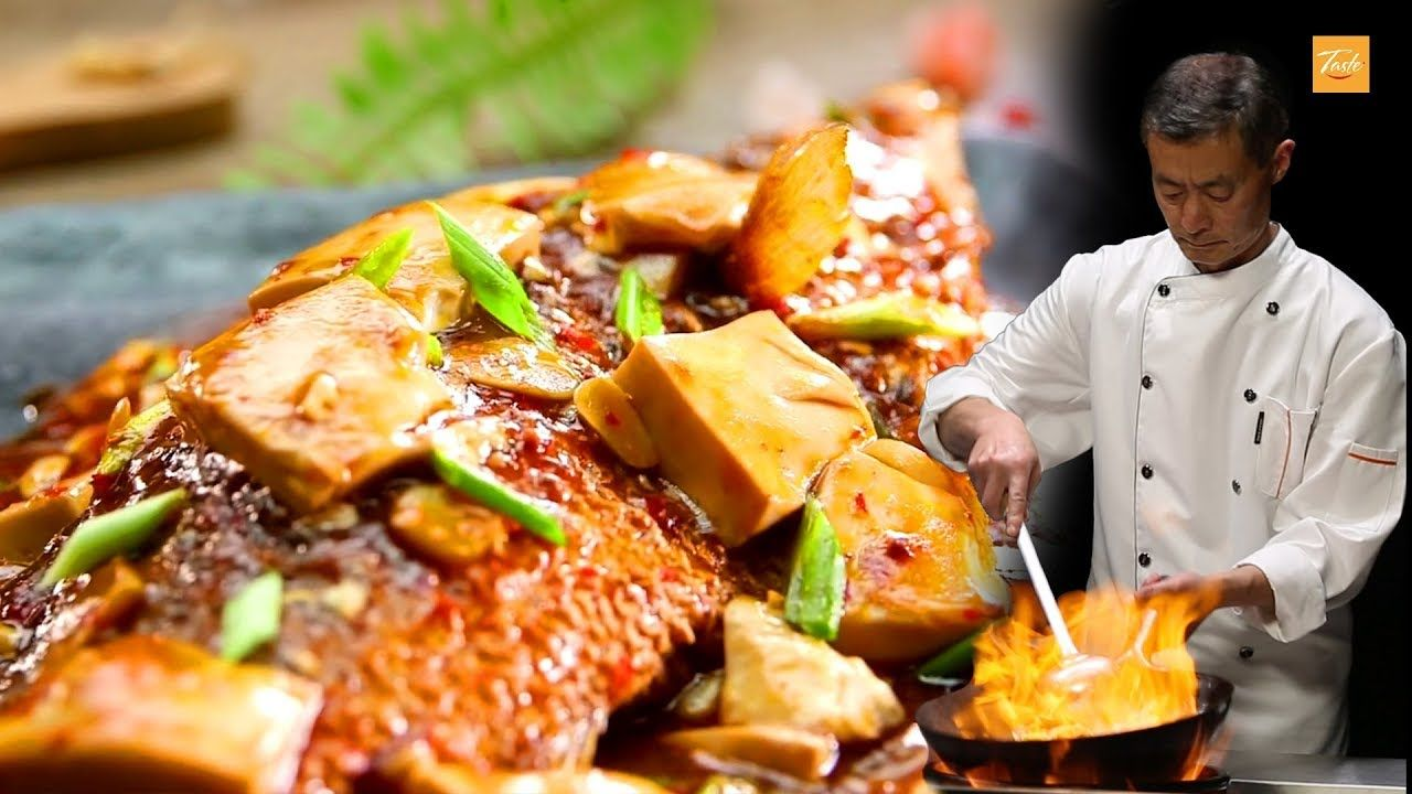 super tasty fried fish with hot sauce by chinese masterchef l chinese new year youtube in 2020 asian recipes best chinese food seafood recipes pinterest