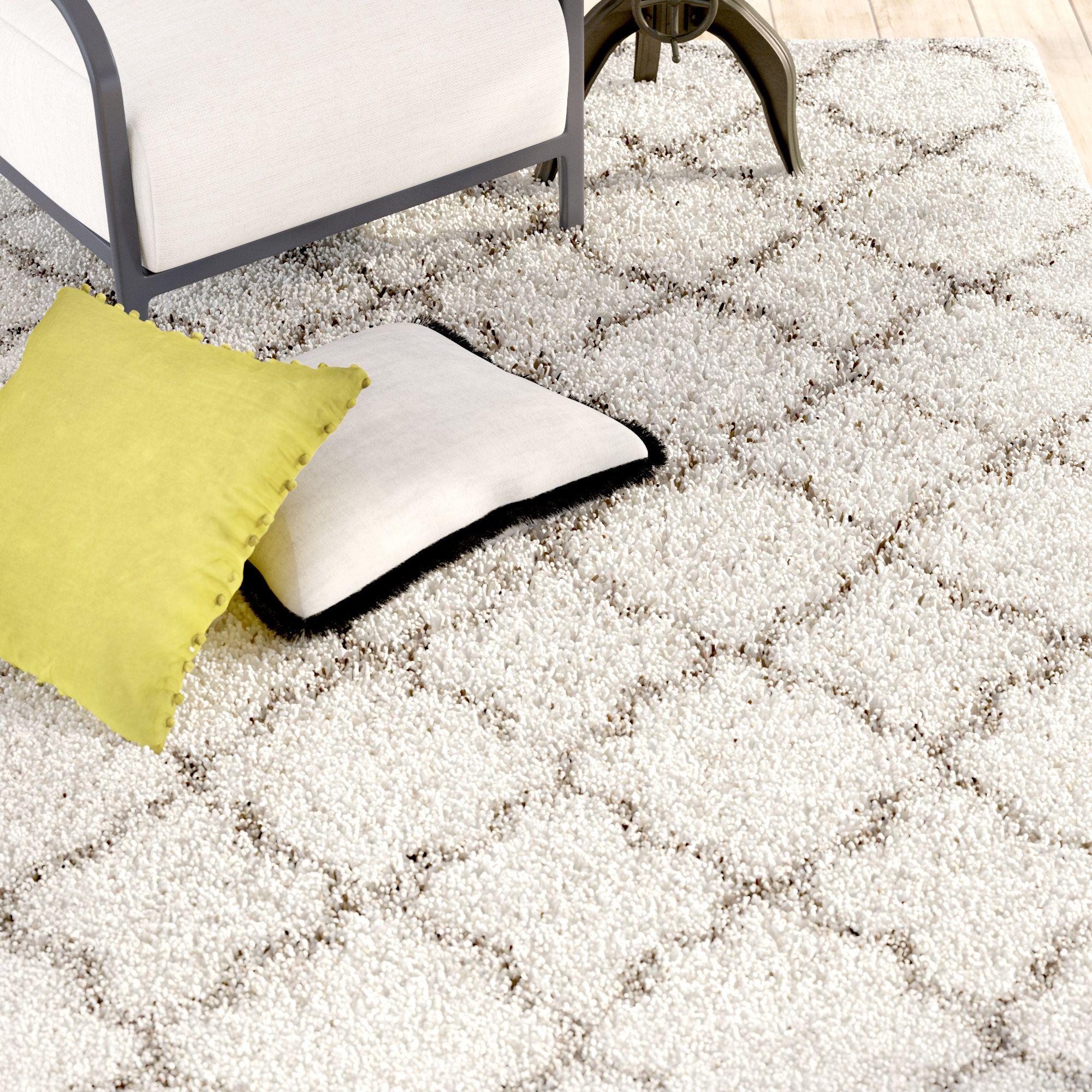 Samira Shag Ivory Gray Area Rug Products Pinterest