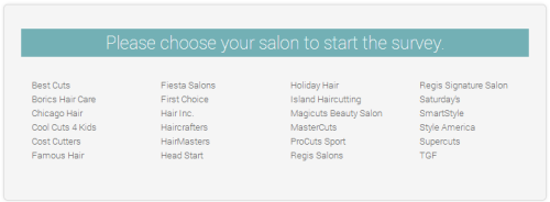 Regis Hair Salons Customer Satisfaction Survey Www