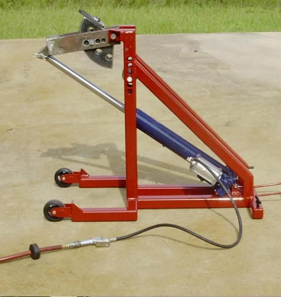 der is the top one on franks site. Plus use a HF air/hydraulic 8 ton ram (great price) on the bender save your arms. One other plus is this bender is mobile and