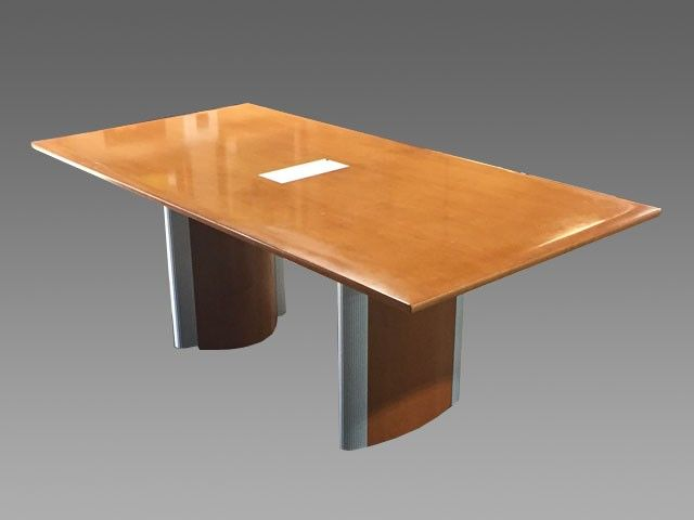 Nienkamper Conference Table W Powerdata Box PreOwned - Conference table data boxes