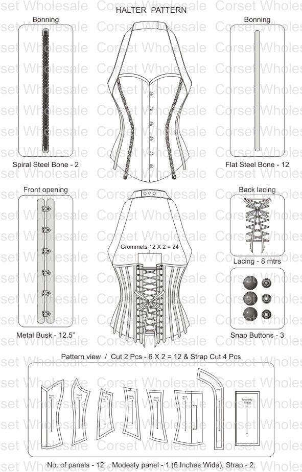 corset | corsets | Pinterest | Costura, Ropa y Corsé