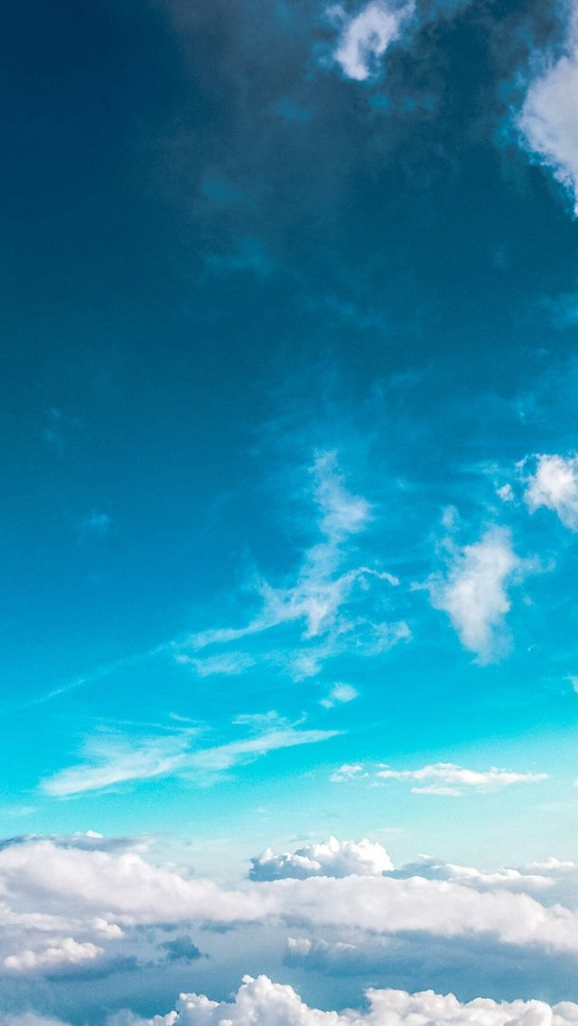 Sky Cloud Fly Blue Summer Sunny iPhone Wallpapers