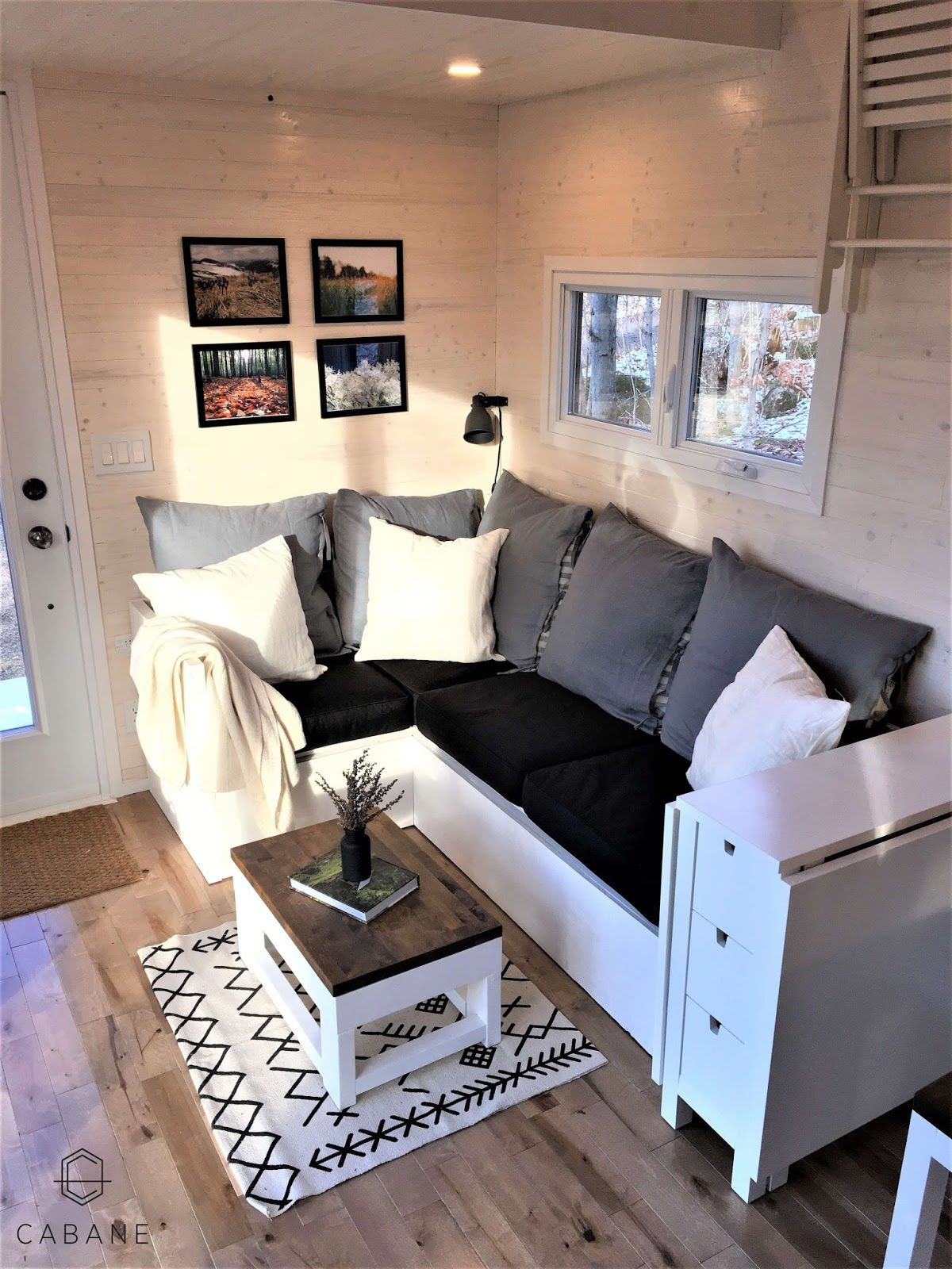 Couch and end table small space perfection in 2019 tiny