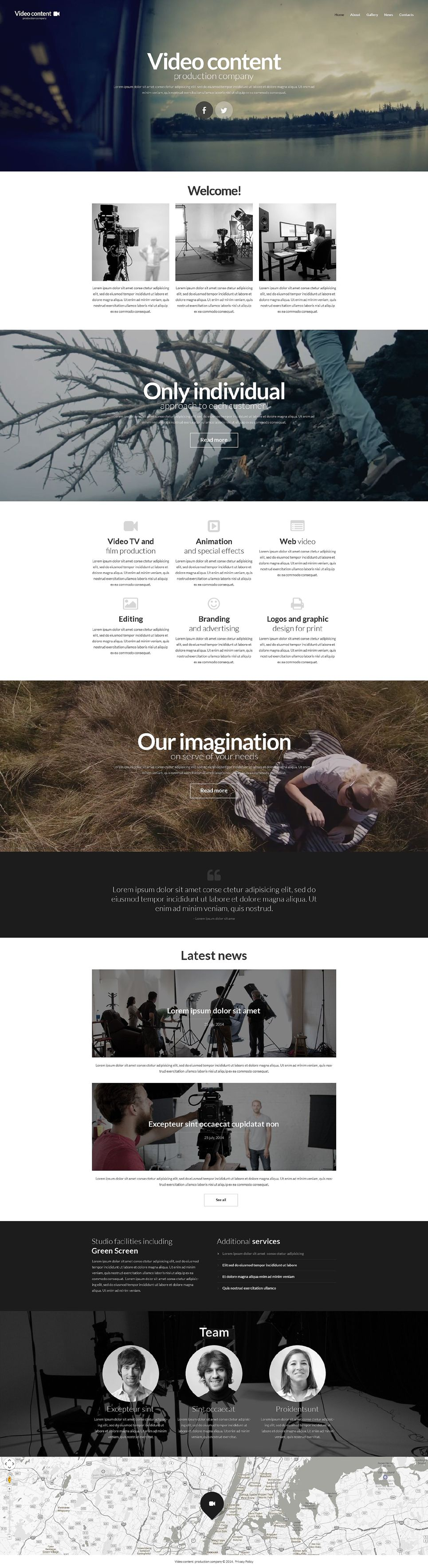 Video Production Website Template 52335 Corporate Website Design Web Design Studio Website Template