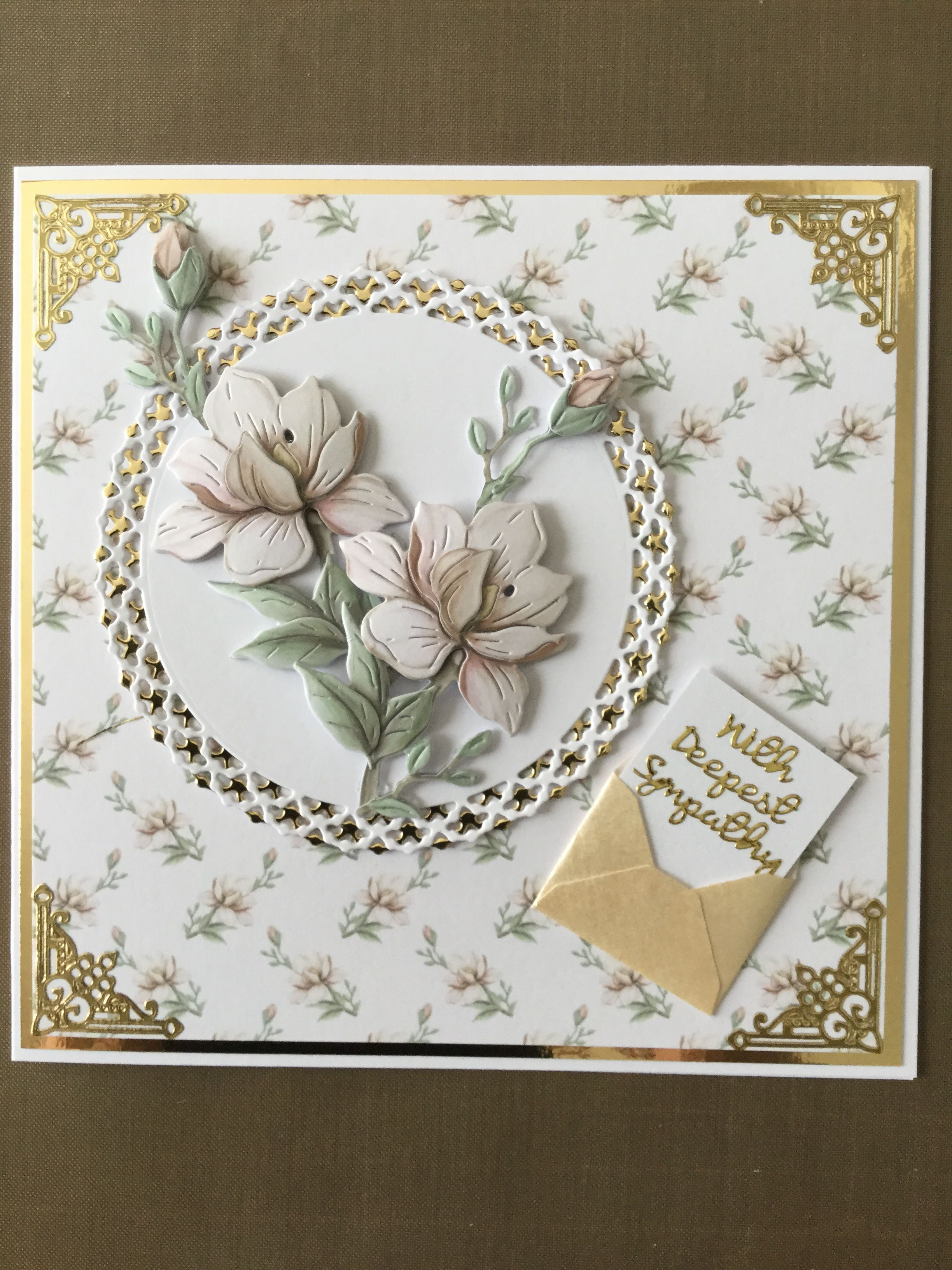 Card Made Using Tattered Lace Magnolia Die Paper Cards Tattered