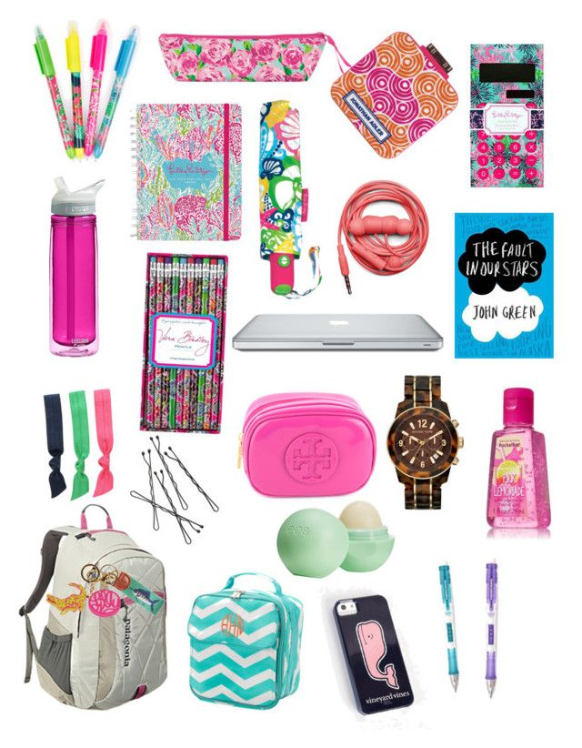 """""""back to school- book bag edition!"""" by ceahannahgrace ❤ liked on Polyvore featuring Patagonia, Lilly Pulitzer, CamelBak, Vera Bradley, Splendid, Smathers & Branson, Jonathan Adler, Urbanears, Tory Burch and Michael Kors"""