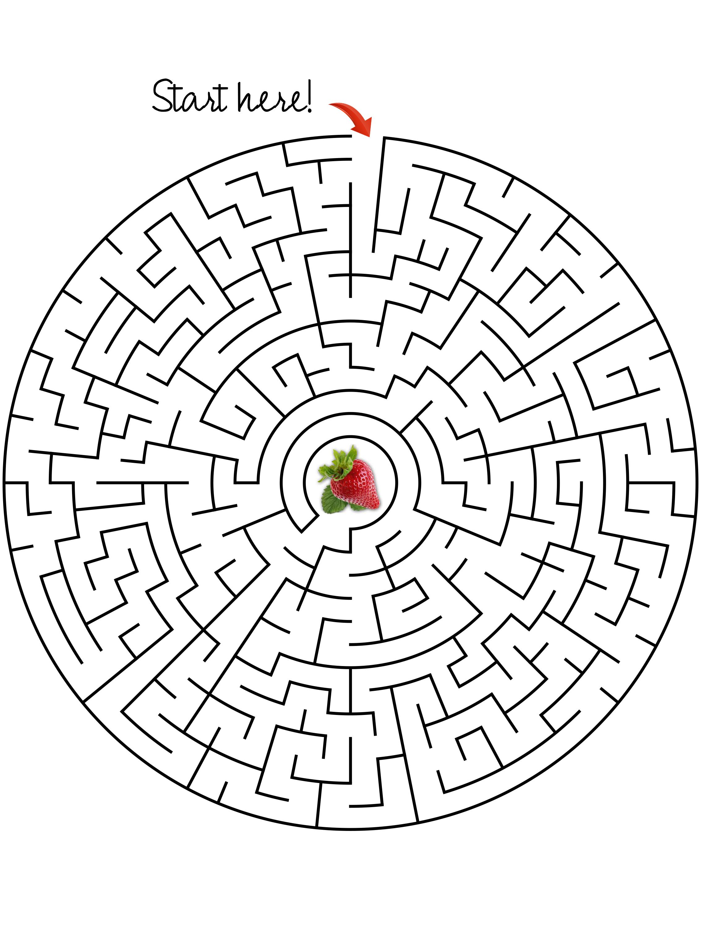 Maze Get The Strawberry Moderate